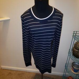Banana Republic striped light weight sweater NWT
